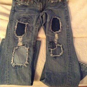 True Religion Berkeley low rise flare jeans.